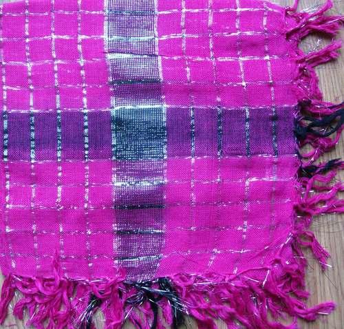 Pink plaid with stripe plaid tichel