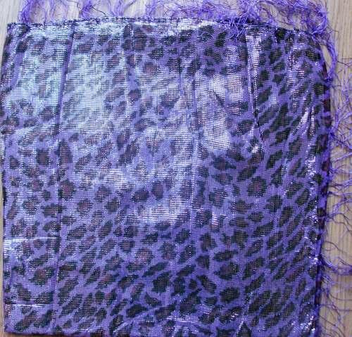 Purple shimmering animal print tichel