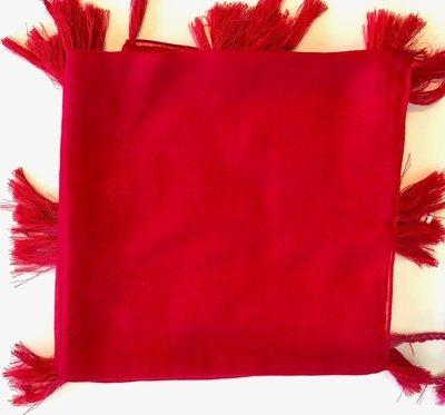 Red solid Turkish Tichel