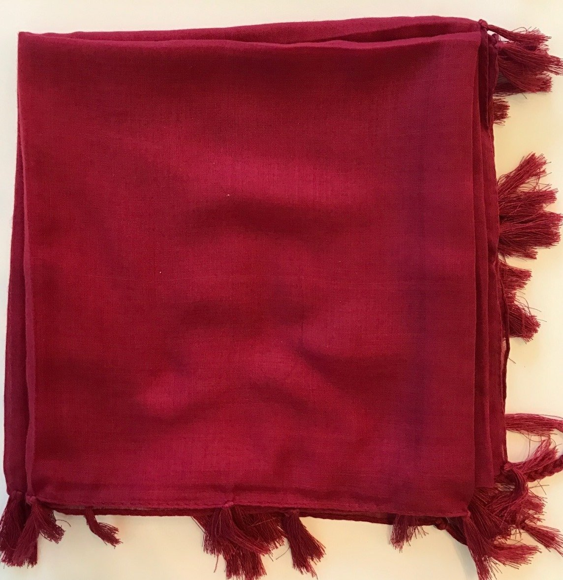 Deep dark red solid Turkish Tichel