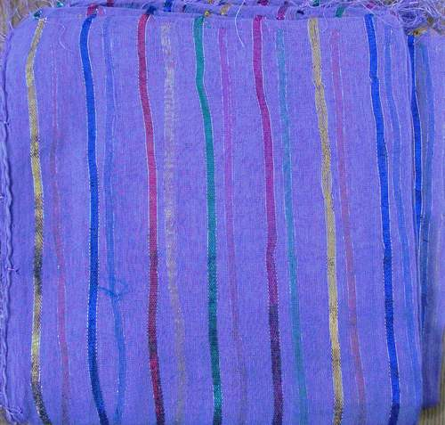 Lavender basic tichel with thick stripes