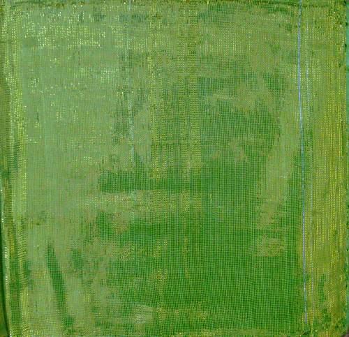 Green solid color shimmering tichel