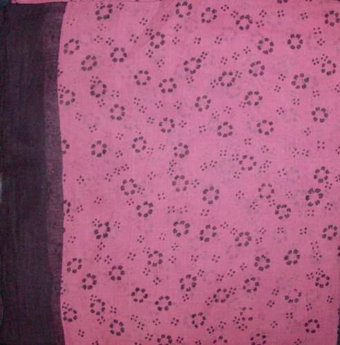 Black border tichel pink