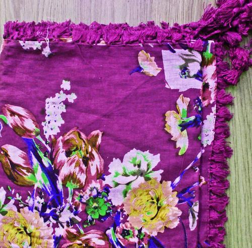 Purple extra fancy tichel