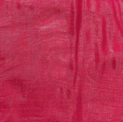 Deep reddish pink solid shimmer tichel