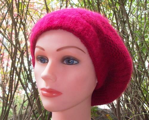 NY style angora beret red