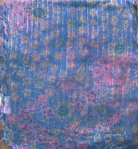 Pretty pattern lurex tichel pale blue
