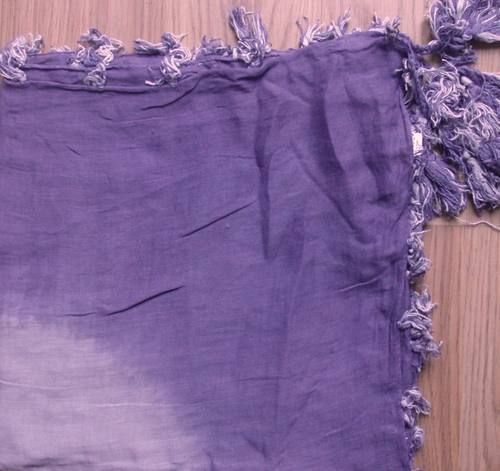 Baby soft cotton tichel - two tone purple and lavender
