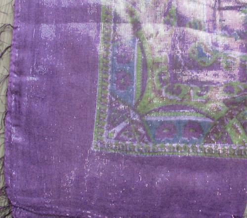 Purple shimmering tichel