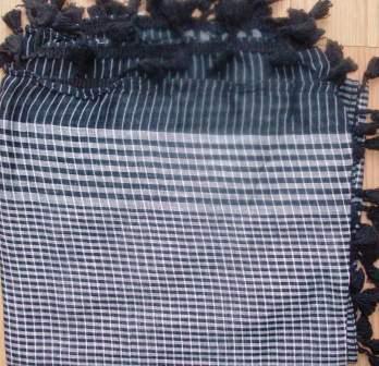 Black tassels mini squares tichel