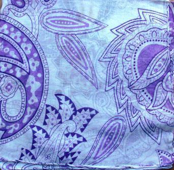 Purple and lavender  spring bright tichel