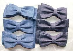 Denim bows