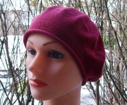 Cotton beret red medium