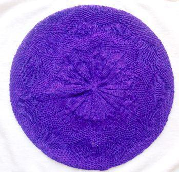 Super lightweight beret purple