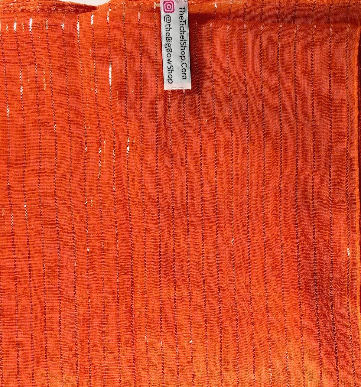 Bright Orange lurex tichel