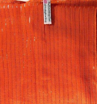 Bright Orange lurex tichel