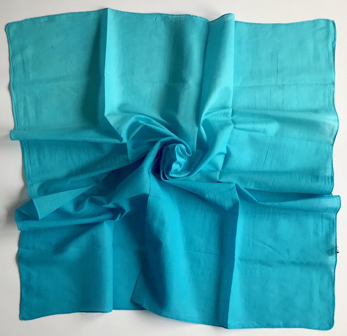 Ocean blue cotton ombre' tichel
