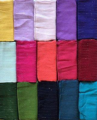 Lot of 5 Lurex Tichels (surprise colors)