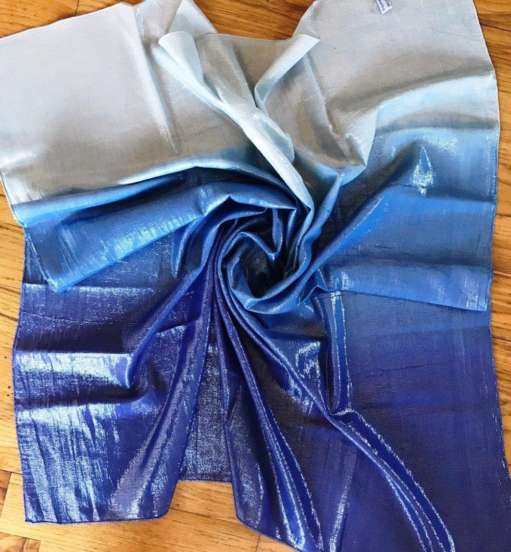 Royal blue Ombre' Shimmer Tichel