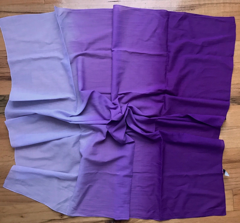 Purple cotton ombre' tichel