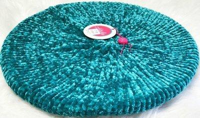 Teal (light green) ribbed velevt snood/beret