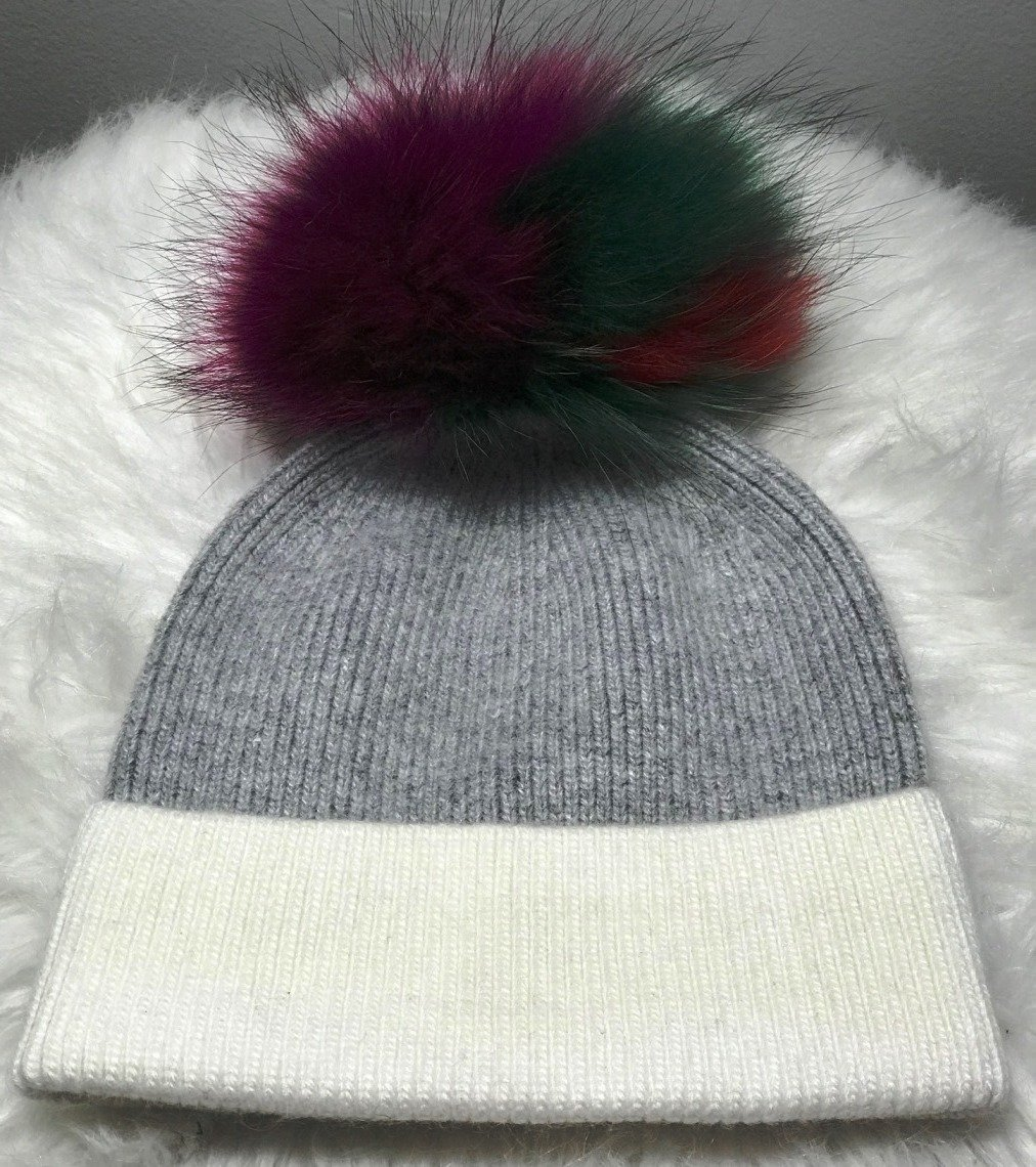 Gray foldover hat