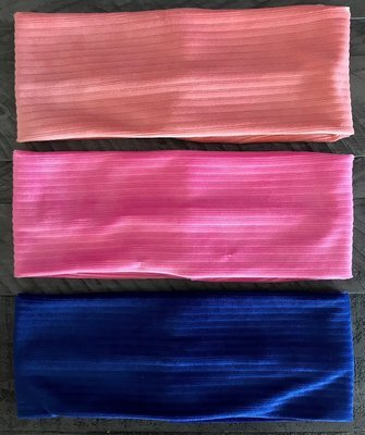 Velvet ribbed flat  headbands