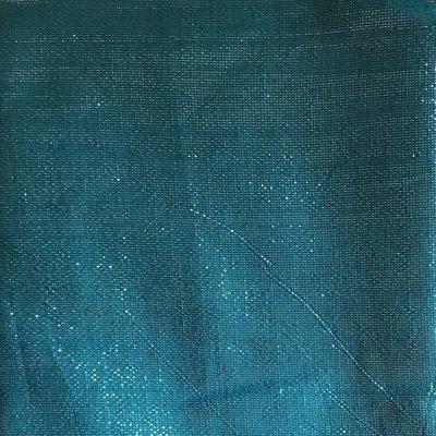 Teal blue solid shimmer tichel