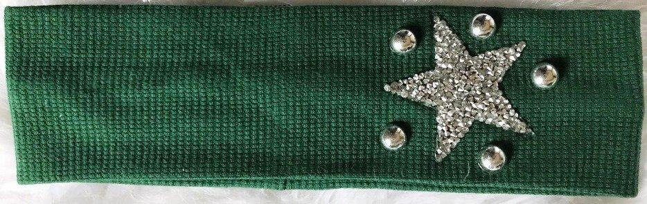 Narrow flat waffle cotton w/star headbands