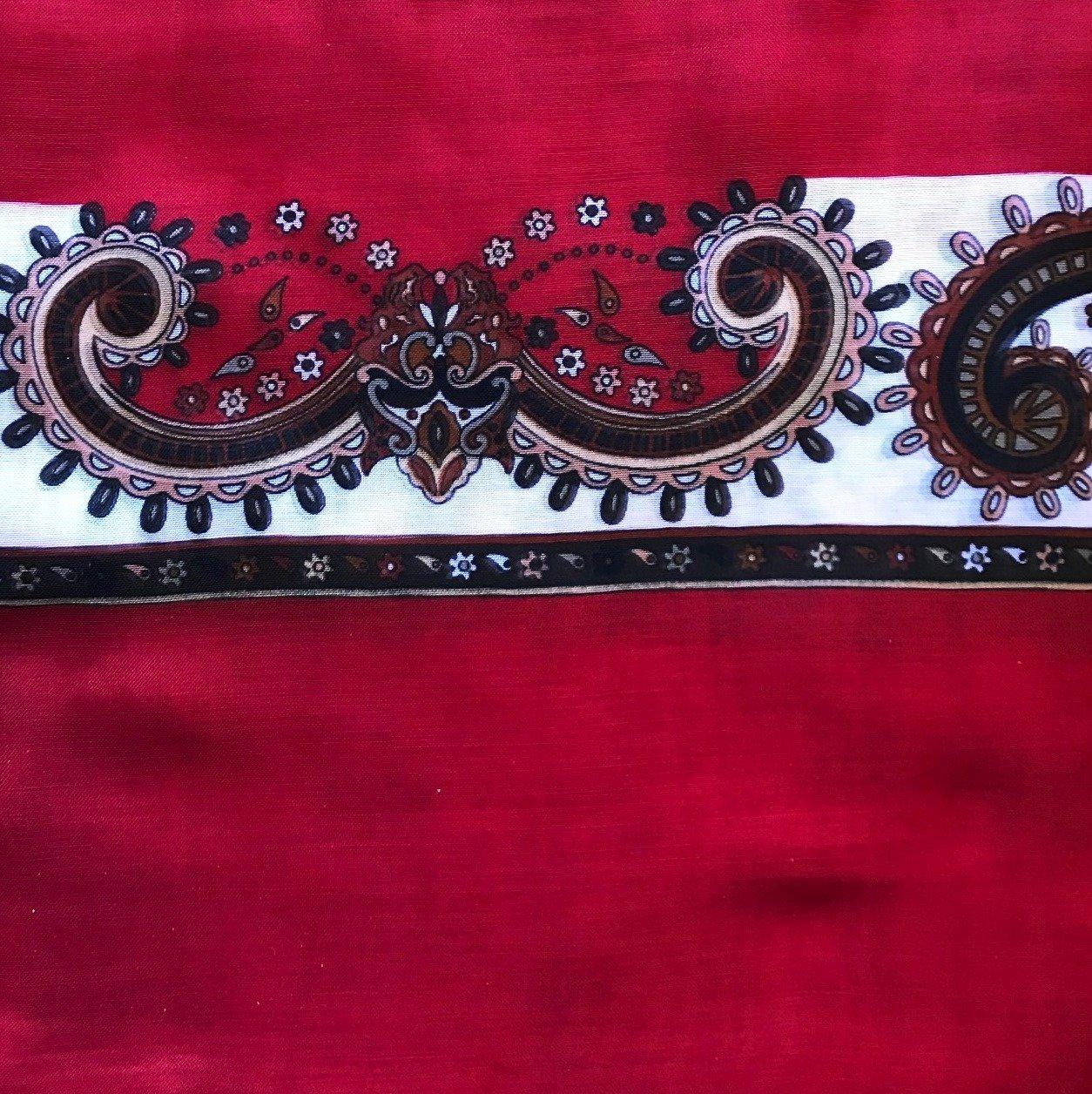 Red Turkish headscarve/tichel