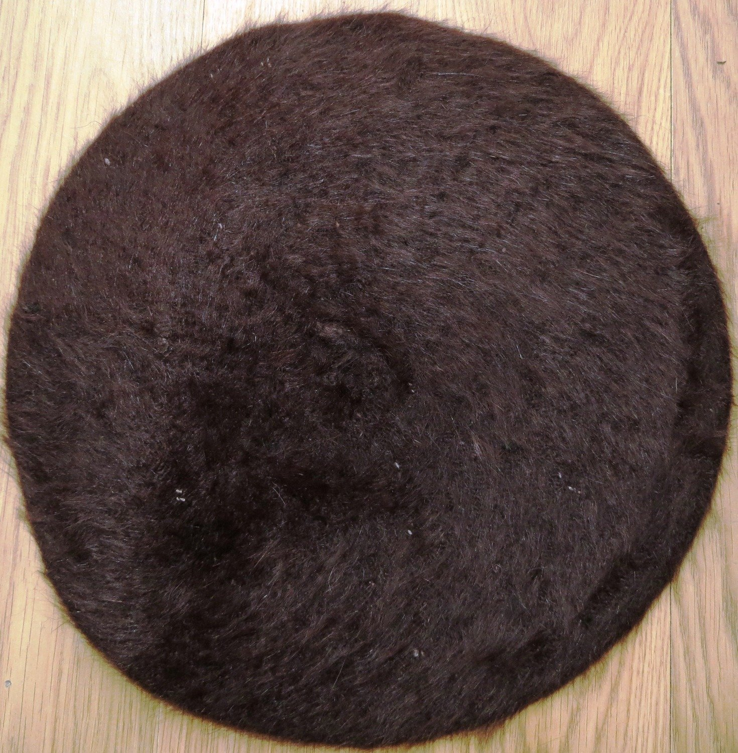Dark brown fur beret