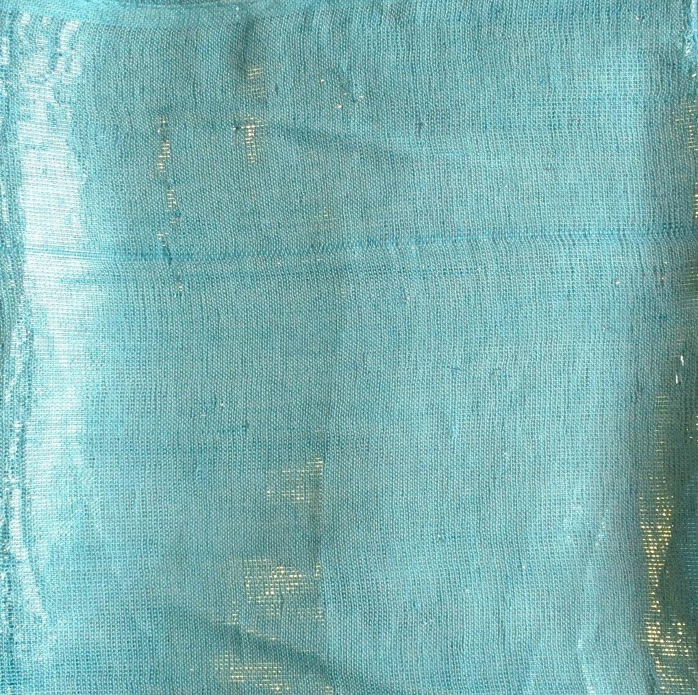 light blue solid shimmer tichel
