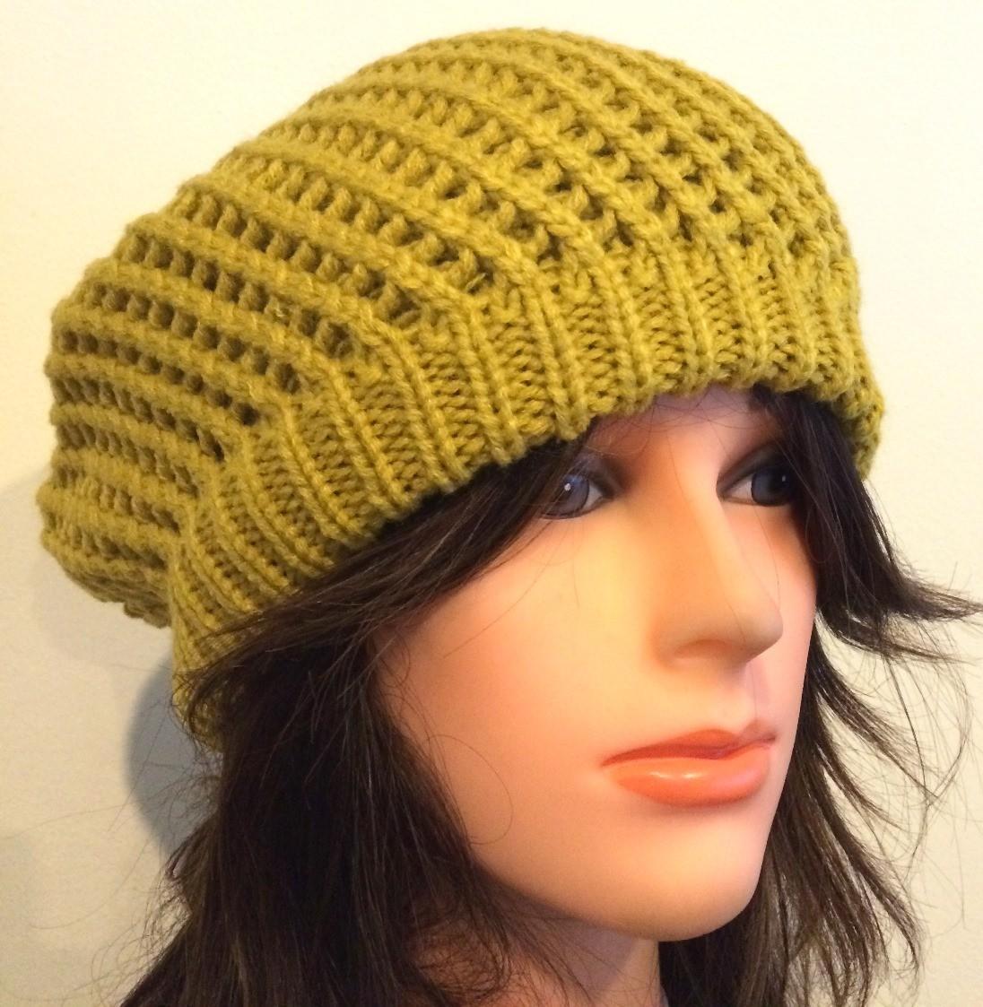 Mustard chunky beret