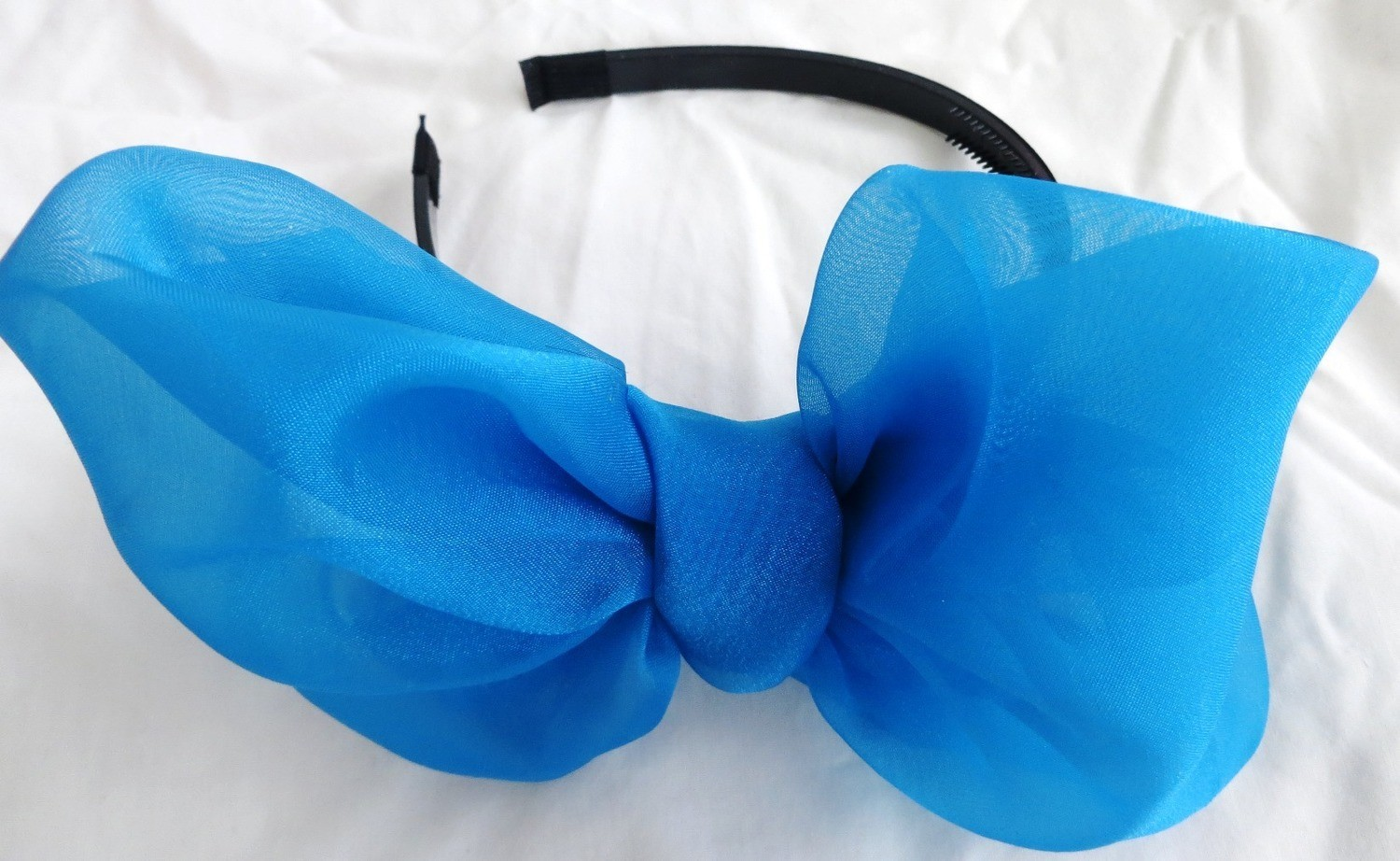Blue Spring bow headband