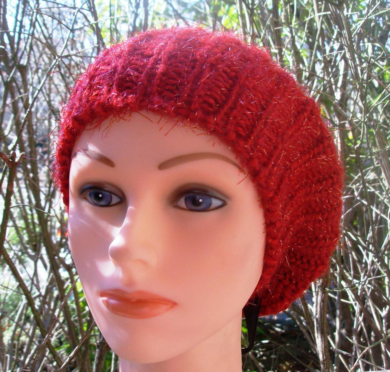 Shimmer beret red