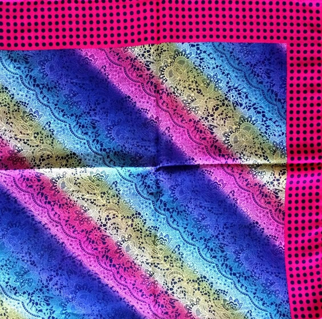 Deep pink border pretty Turkish headscarve