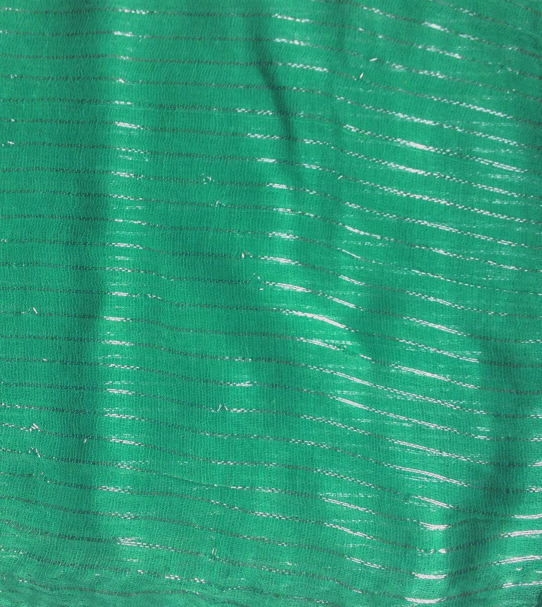 Ocean green lurex tichel