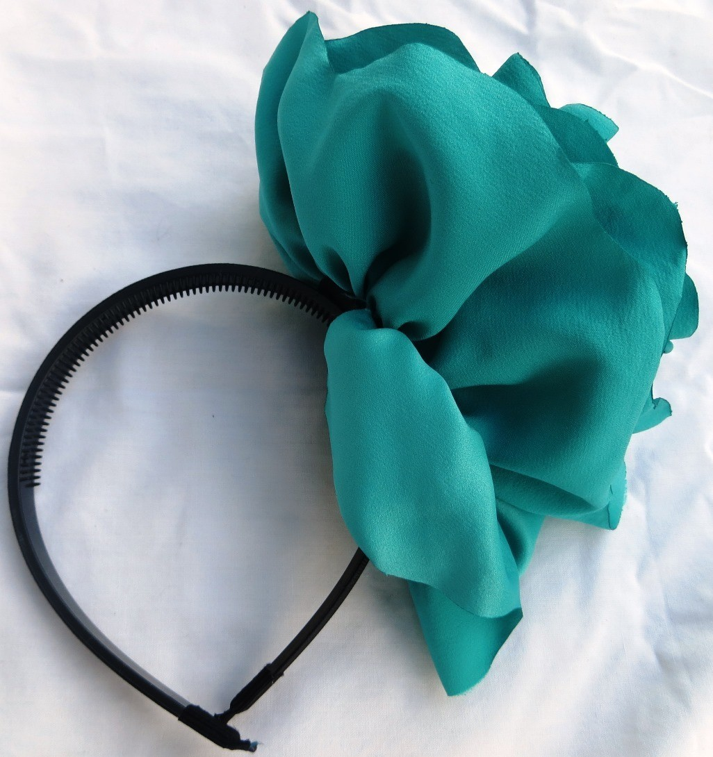 Sea green extra large flower headband