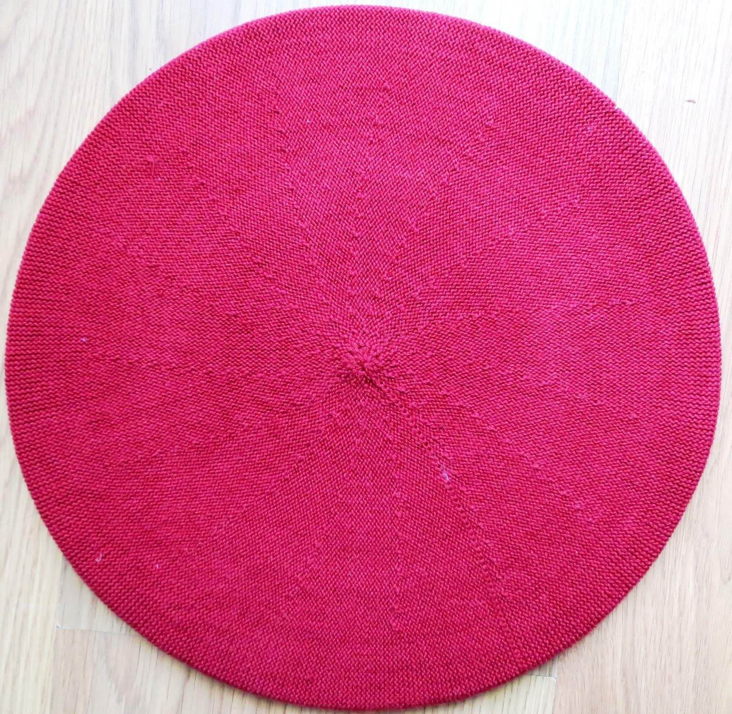 Cotton Beret red large