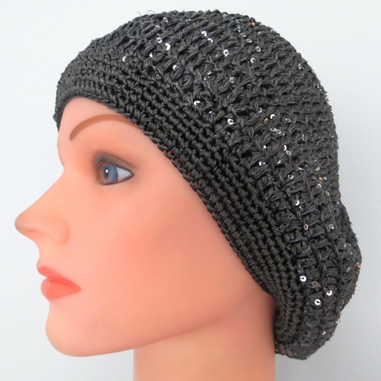 gray mini sequins snood
