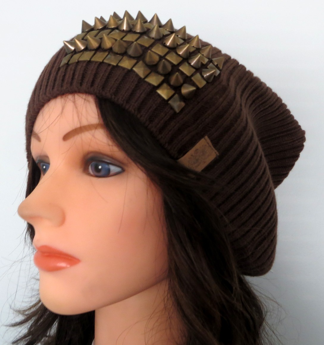 Brown slouch beret