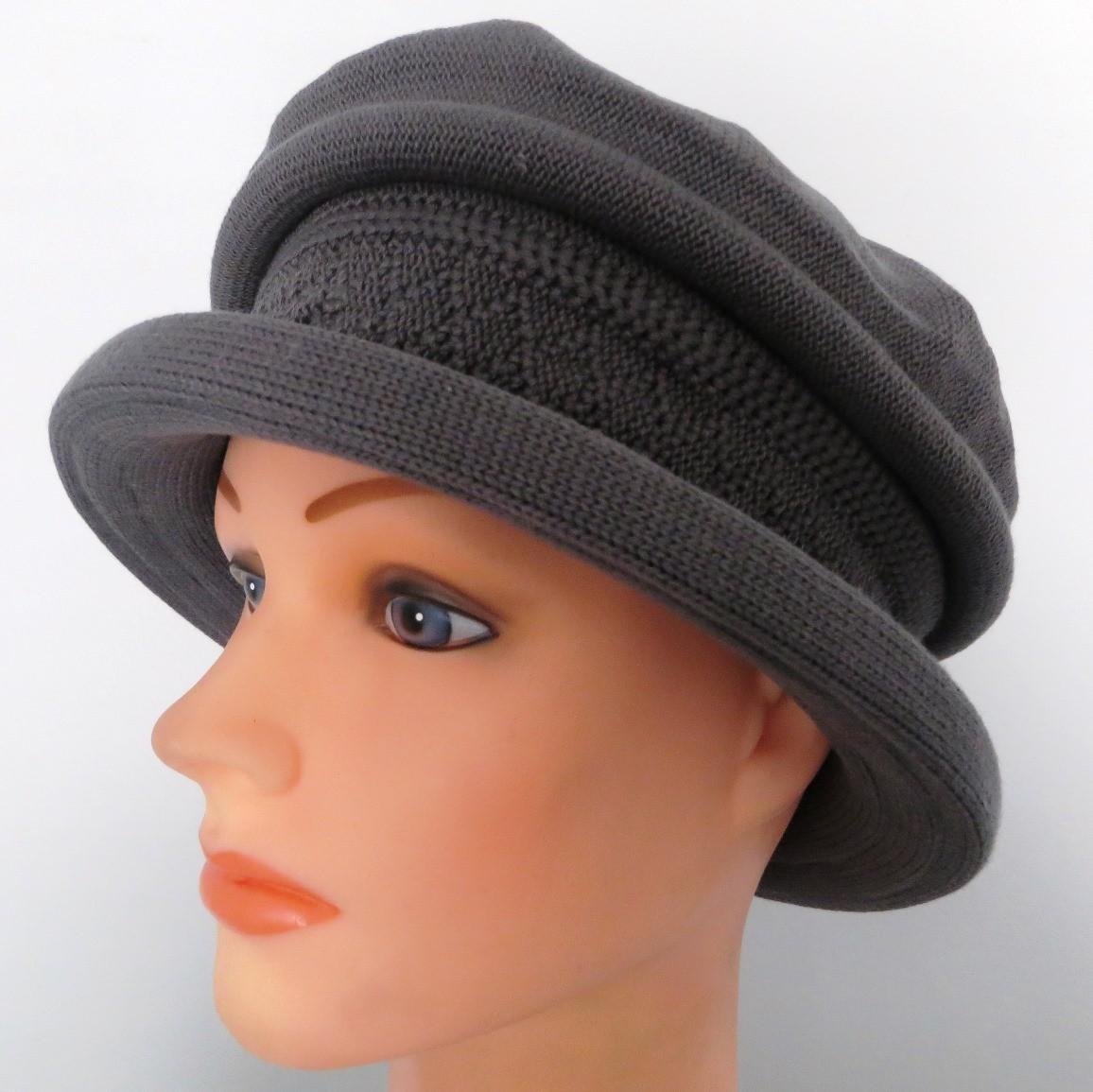 Cotton beret hat gray