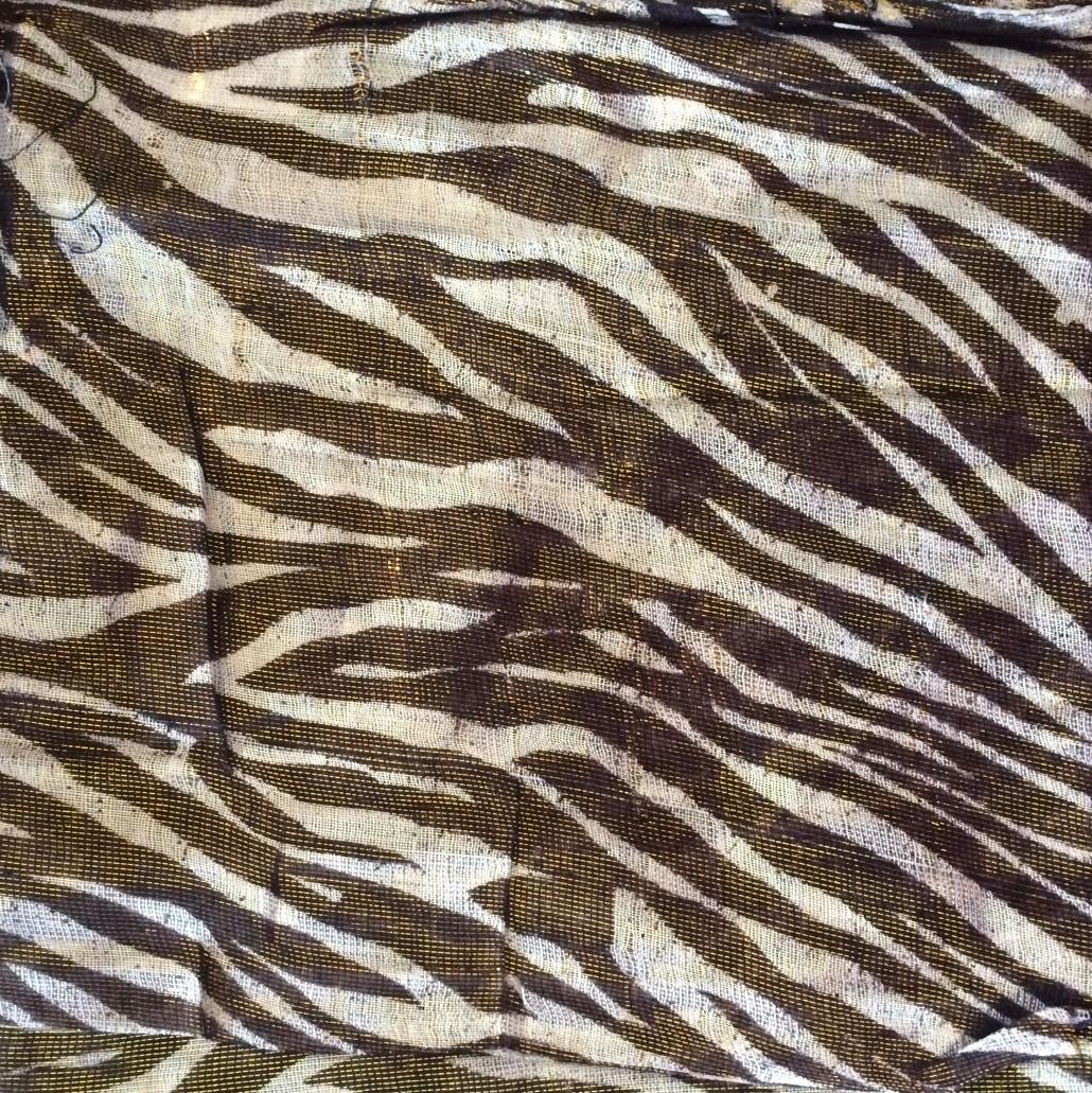 Brown/gold animal shimmering tichel