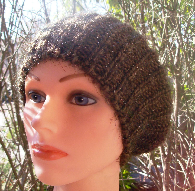 Shimmer beret brown