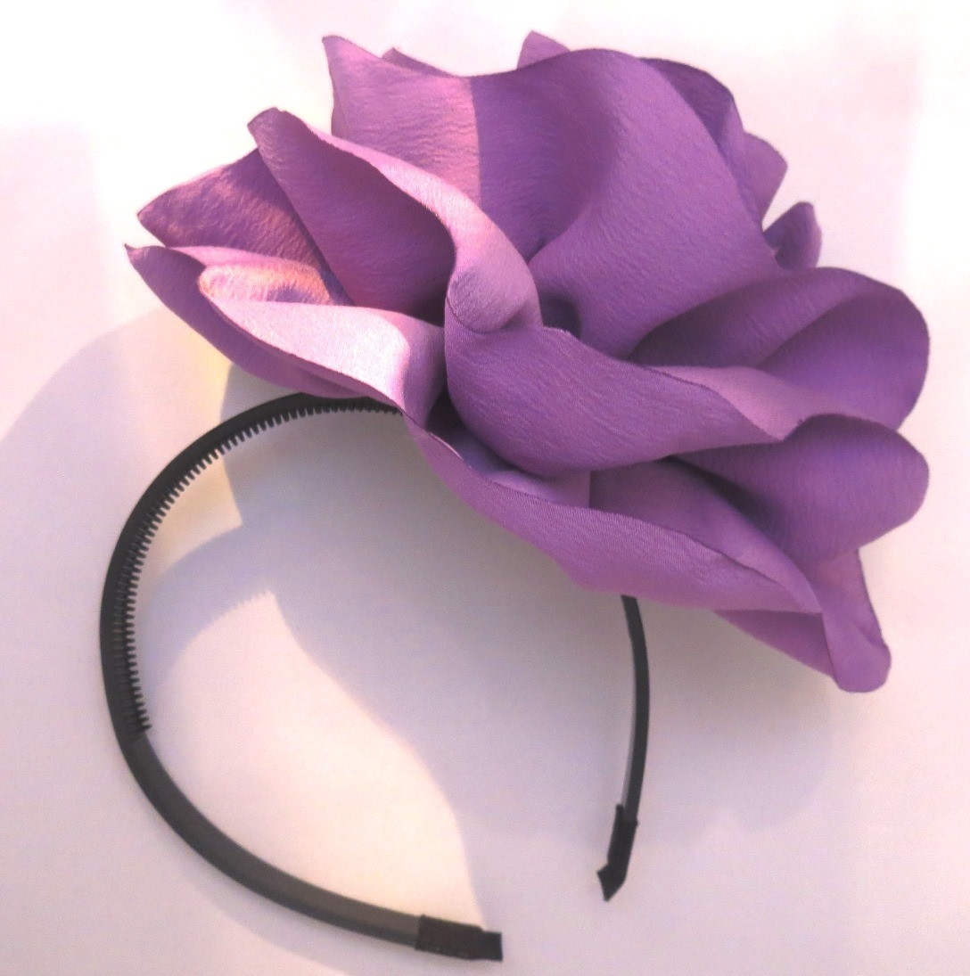 Extra large flower headband lilac