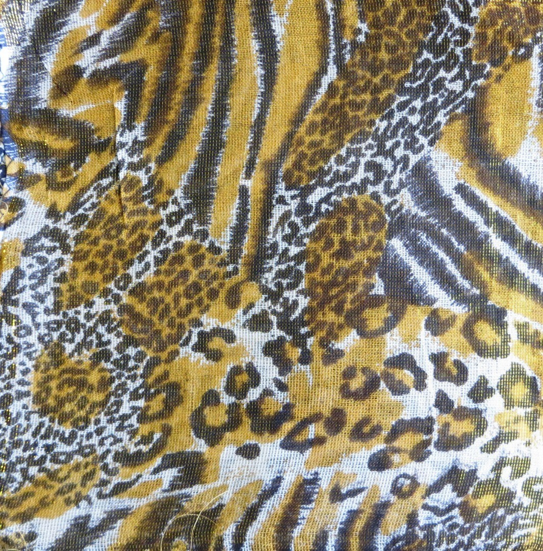 Gold and more animal print shimmering tichel