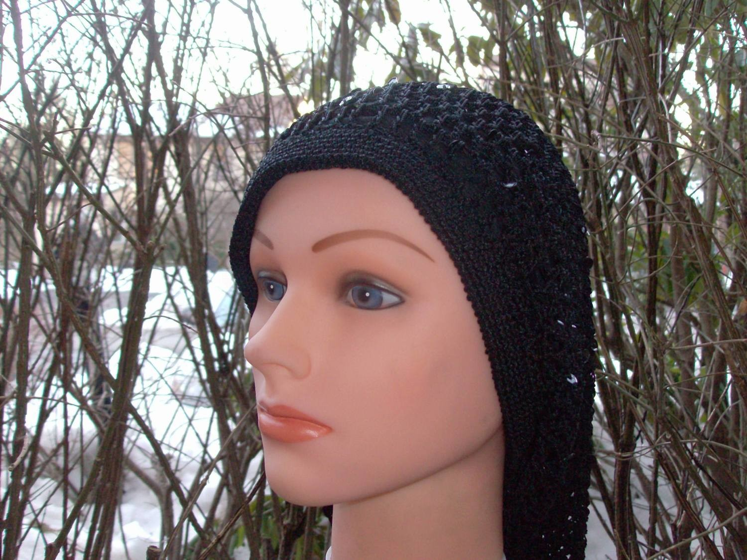 Long sequined snood
