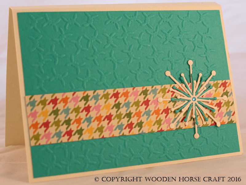 Card: Any Occasion (Blank) blank_ocean_houndstooth
