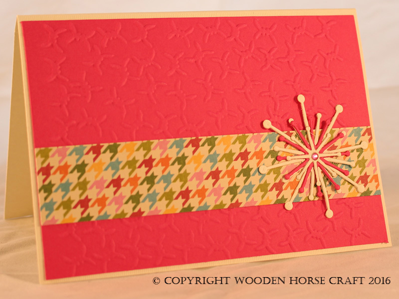 Card: Any Occasion (Blank) blank_pink_houndstooth