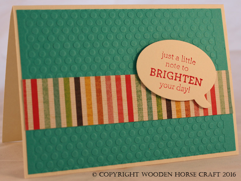 Card: Just a Note brightenday_ocean_stripe